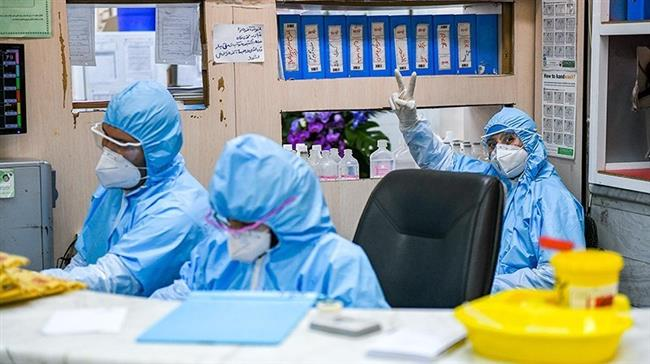 Doctors and nurses are seen at Kamkar hospital in Qom , Iran, February 28, 2020. (Photo by Tasnim)