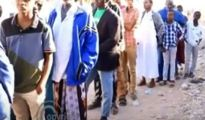 men registering at one of Somaliland's registration centers in long queues in the Togdheer region, 27 December 2020, Image File .Arweelo News Network.