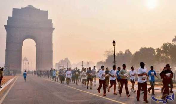 35 ألف شخص يشاركون في سباق دلهي رغم التلوث