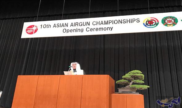 علي بن عبدالله يُعلن افتتاح البطولة الآسيوية العاشرة للرماية في طوكيو