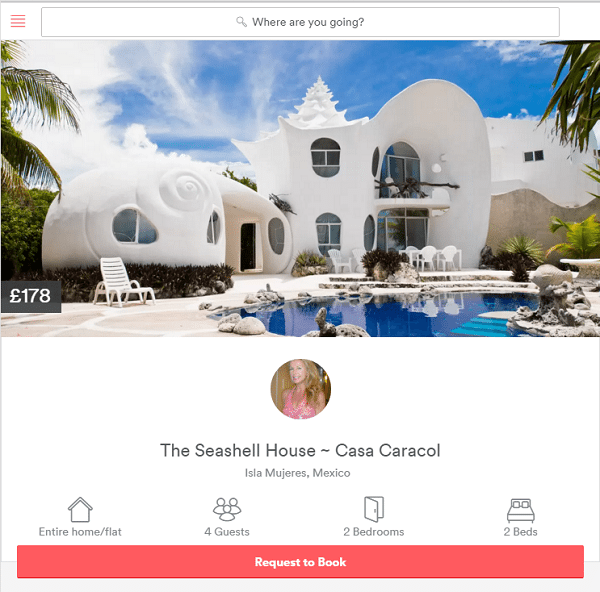 location independent seashell house airbnb