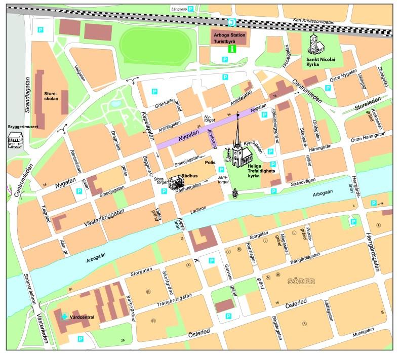 Parkeringar under Arboga Medeltidsdagar