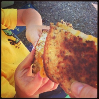 Cheers! To grilled cheese.