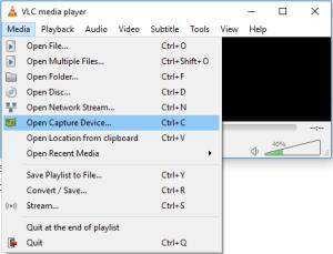 VLC Open Capture