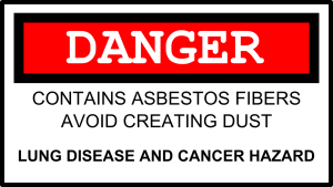 asbest warning
