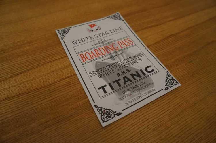 titanic boardingpass