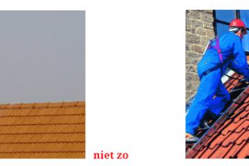 op dak werken