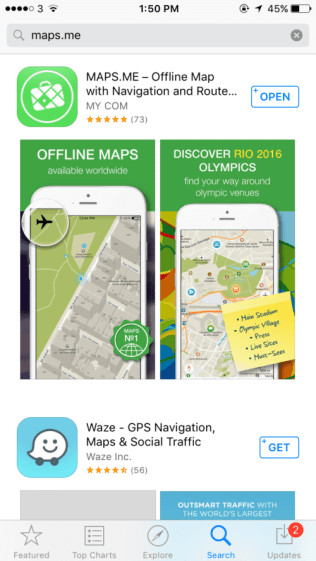 maps.me, offline maps, travel apps, arboursabroad