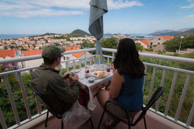 breakfast views, Dubrovnik, villa stay, Croatia, Arboursabroad, Dubrovnik itinerary