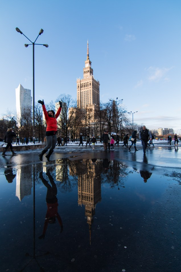 Warsaw, Poland in December, arboursabroad, Palace of culture and science