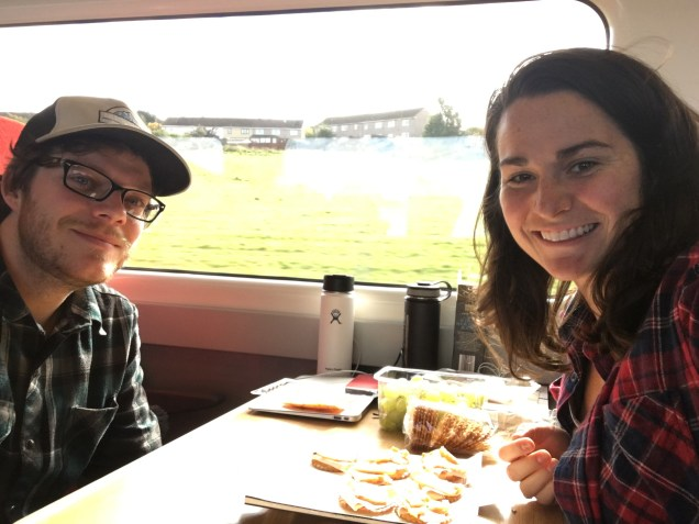Virgin trains, east coast line, train table, couples picnic, arboursabroad