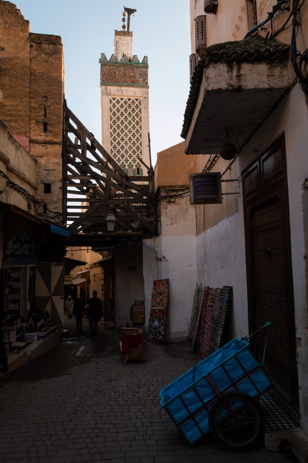 street with mosque in Fez, souks, visiting Fez, Morocco, Africa, arboursabroad