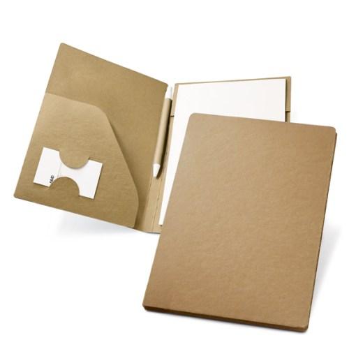 Conférencier A5 en carton et papier recyclé avec stylobille
