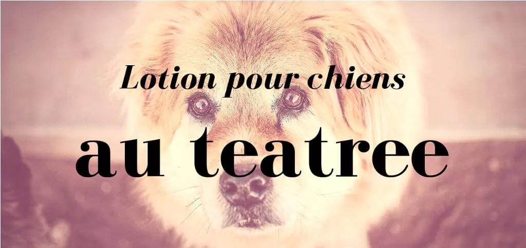 lotion pour chien au teatree