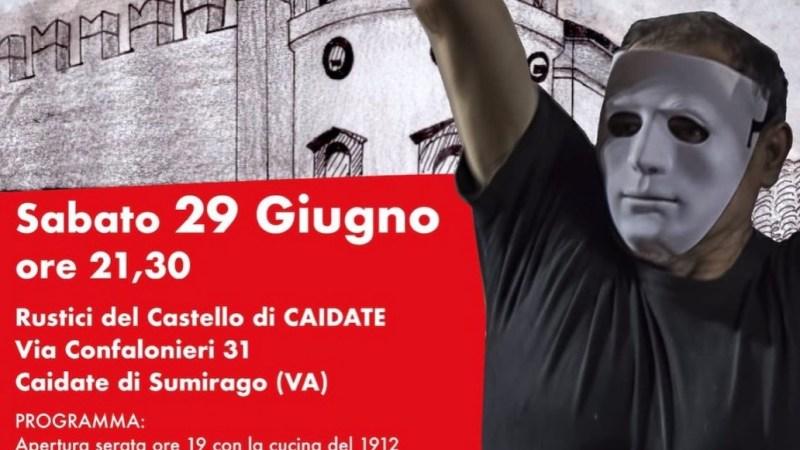 """Spettacolo teatrale """"IO"""", i nostri Attori vi aspettano al Castello di Caidate sabato 29 giugno 2019"""