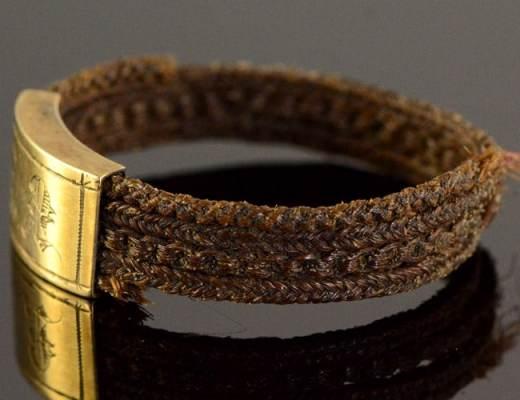 Victorian Hairwork Ring
