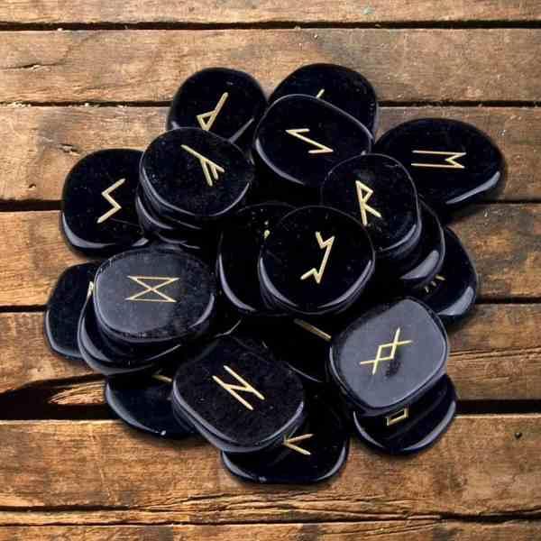 Obsidian Rune Stone Set