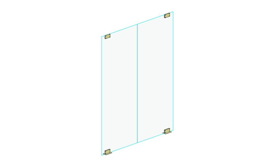 Doors And Hardware Curtain Wall Double Glass
