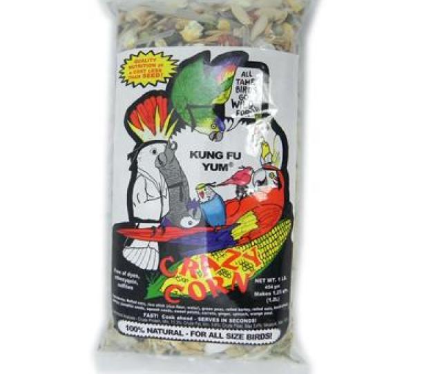 Crazy Corn Kung Fu Yum  Pound Bird Food Discontinued