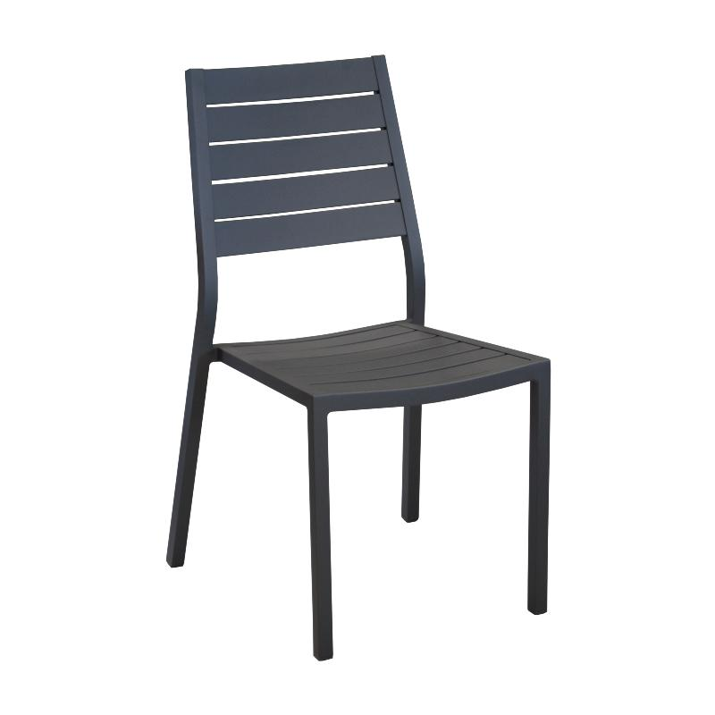 CHAISE LATIN GREY EMPILABLE