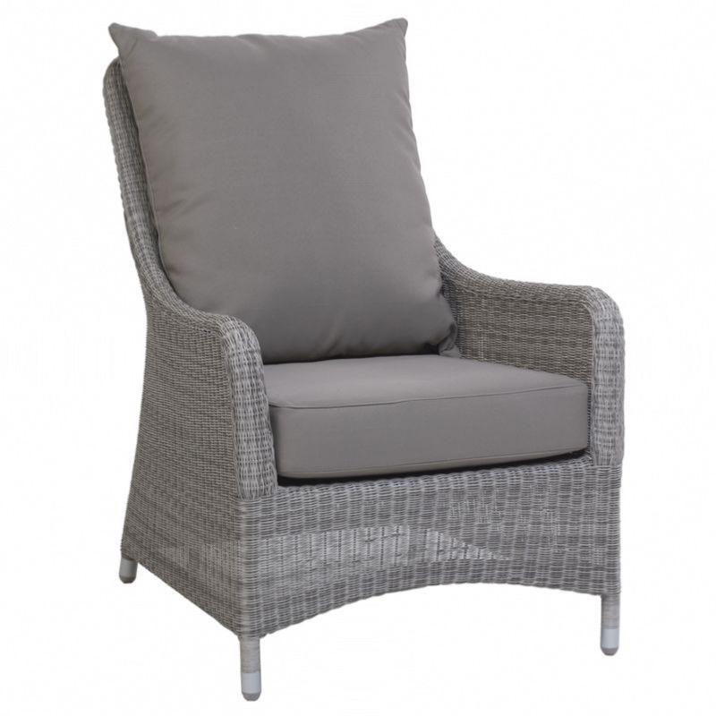 fauteuil jardin transat en resine tressee galet kok