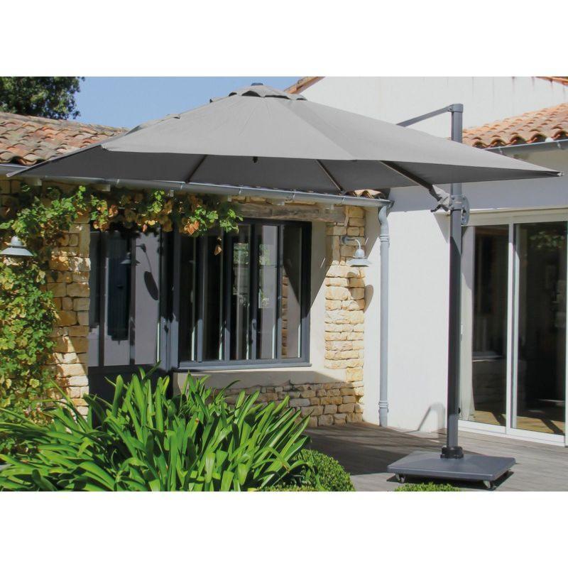 parasol deporte alizee 3x4 toile polyester 200gr grey
