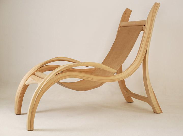 chaise longue en bois design gigi