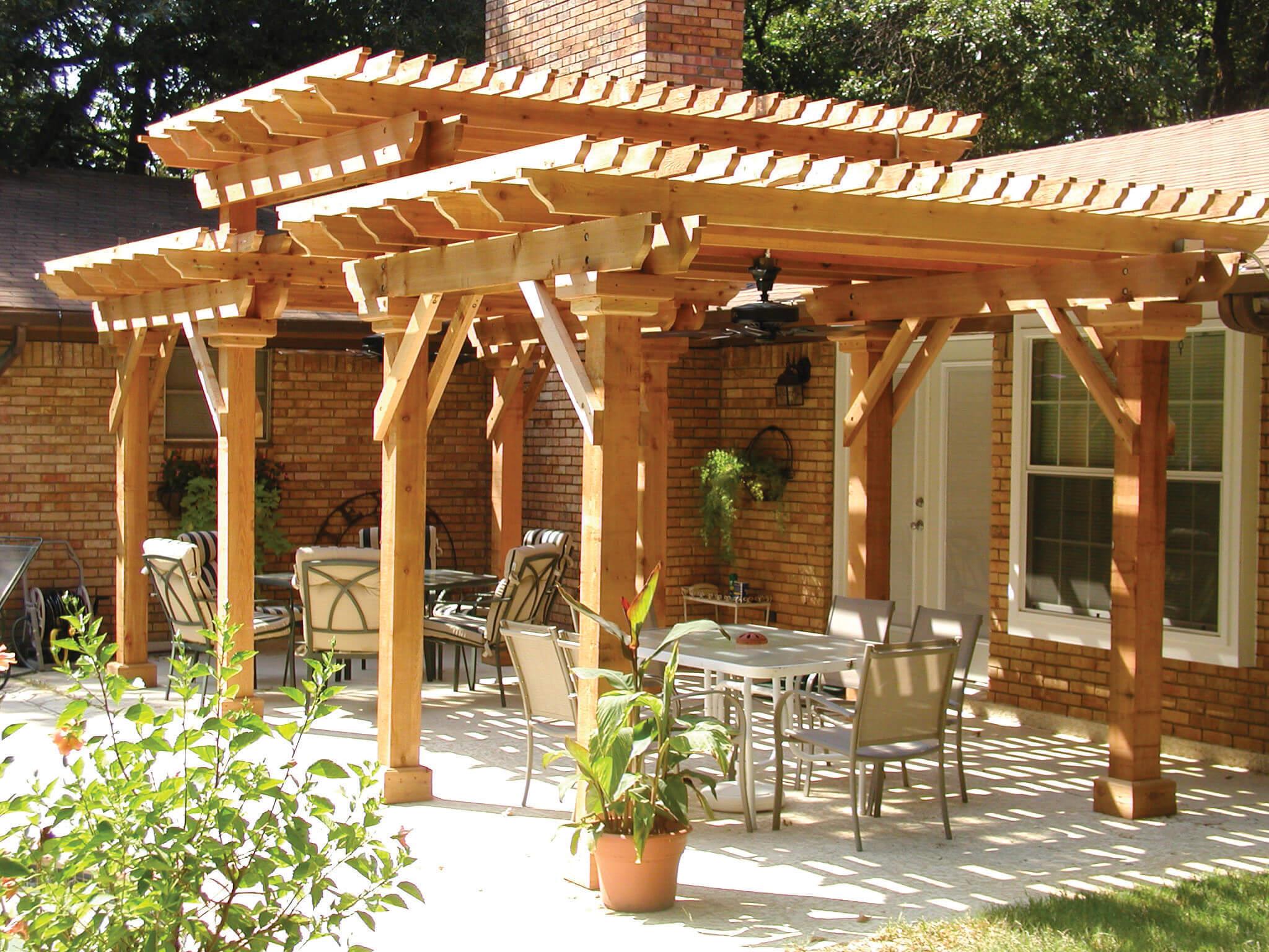 pergolas trellises covered patios
