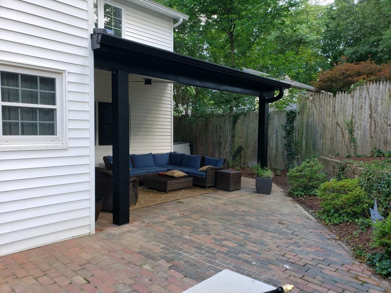 this covered patio is just as