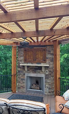Get Screened In Porch Fireplace Ideas Gif