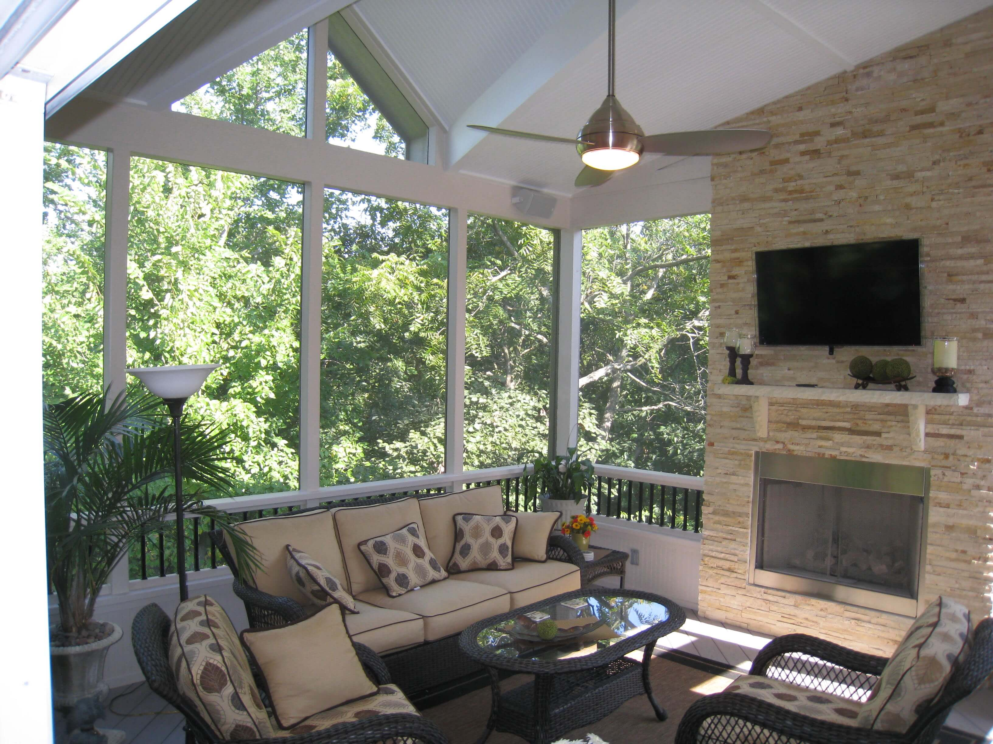 tv on your screened porch