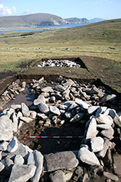 Fig 11-The two Early Medieval Kilns on the terraces on Slievemore