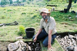 Don Henson digging