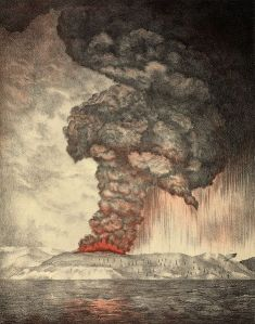 The 1883 eruption of Krakatoa. Image: Royal Society
