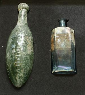 A torpedo bottle & medicine bottle - image: ORNC