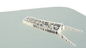 While investigating a known long barrow at Woodhenge, the team found the remains of a large timber building hidden inside it. This reconstruction shows how it may have looked