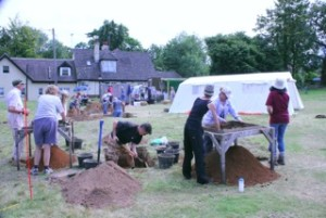 Big Dig at the Flying Bull Inn, Rake. Summer 2015. (Photo: Arthur Mills)