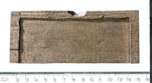 Britain's earliest handwritten document? Photo: MOLA