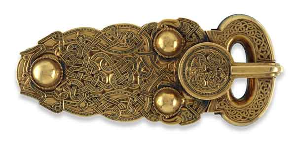 Dark Age or Golden Age? Many of the Sutton Hoo artefacts, such as this intricately decorated belt buckle, reveal the stunning artistic ability of their creators.