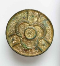 The never-before seen Viking brooch, recently rediscovered by conservators in the storerooms of the Museum.