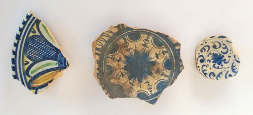 Tin -glazed ceramics from Tune Hotel Liverpool Street (photo: MOLA)