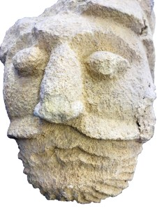 A carved head