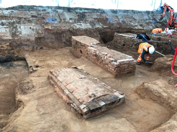 Brick-lined tombs were relatively common in the southern part of the cemetery, where there were more wealthy burials