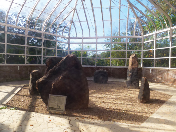 For around half a century, the Calder stones were displayed in a glasshouse in Liverpool's Calderstones Park.