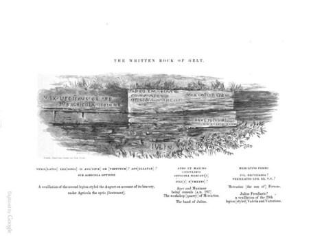 John Collingwood Bruce's inscription of the Written Rock of Gelt