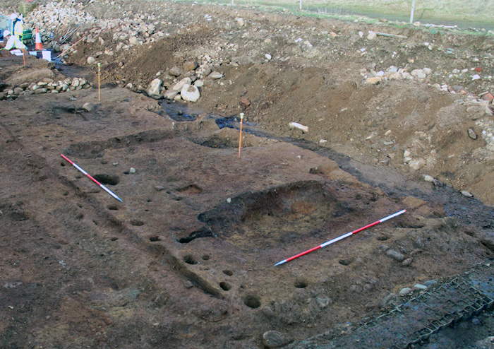 Excavation of a timber building