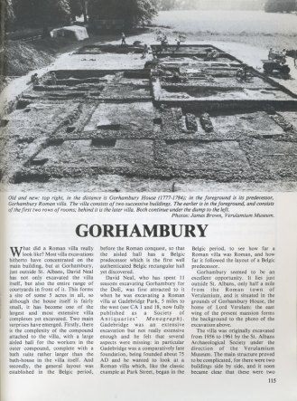 Feature in CA 87 looking at Gorhambury