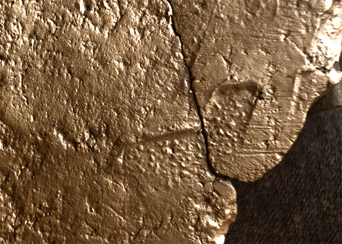 RTI image showing details of the textile impression