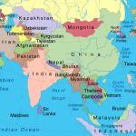 Asia Map - The Sri Lanka Regional Context