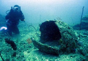 Figure 3. Large-sized jar seen on the wreck site